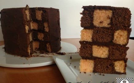 Orange and Chocolate Checkerboard Cake