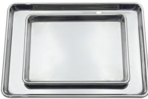 Stainless Steel Half Pan and Quarter Pan Set